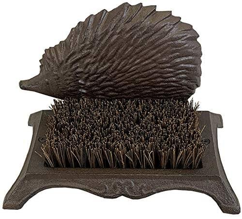 Cast Iron Hedgehog Boot Brush Shoe Scraper