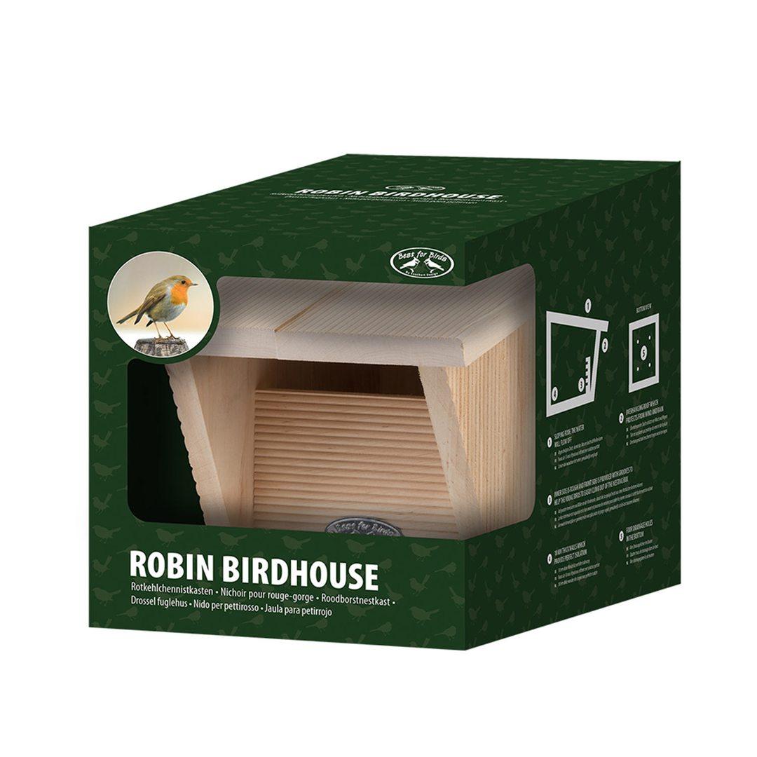 Robin Bird House In A Giftbox